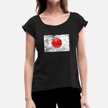 Japan Vintage Japan Flag Vintage Tokyo - Women's T-Shirt with rolled up sleeves