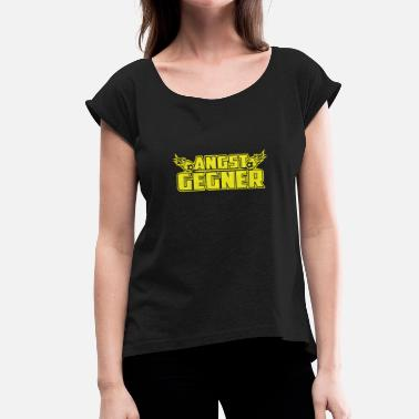 Stadium Seats Fear opponent (yellow) - Women's T-Shirt with rolled up sleeves