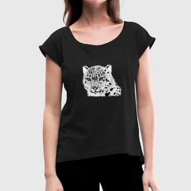 leopard - Women's T-Shirt with rolled up sleeves
