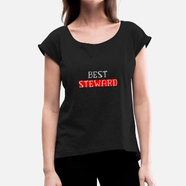 Steward STEWARD - Women's T-Shirt with rolled up sleeves