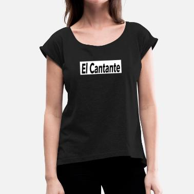 Shop El Cantante Shirt - White - Mambo New York - Women's T-Shirt with rolled up sleeves