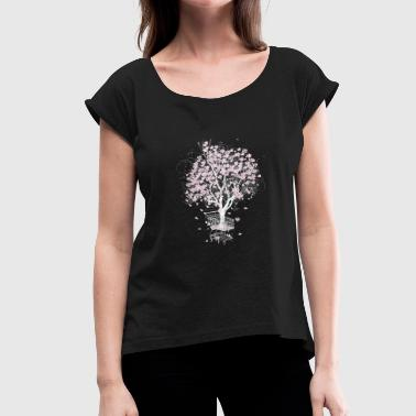 Tree in the shopping cart - Women's T-shirt with rolled up sleeves