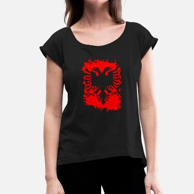 Albanian Eagle albanian eagle albania shirt albanian eagle - Women's T-Shirt with rolled up sleeves