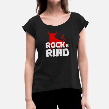 Rind ROCK n RIND - Women's T-Shirt with rolled up sleeves