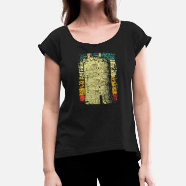 Medieval Times Medieval castle tower - Women's T-Shirt with rolled up sleeves