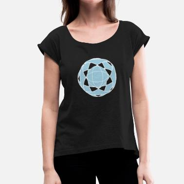 Rave Wear Abstract rave wear - Women's T-Shirt with rolled up sleeves