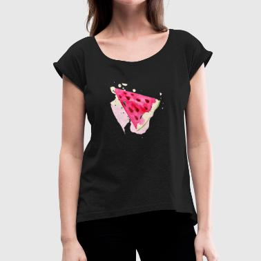 melon - Women's T-Shirt with rolled up sleeves