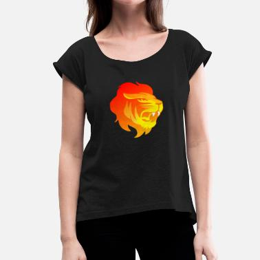 Red Lion Red danger lion - Women's T-Shirt with rolled up sleeves