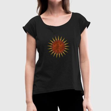 red star of death - Women's T-Shirt with rolled up sleeves