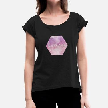 Auckland Auckland - Women's T-Shirt with rolled up sleeves