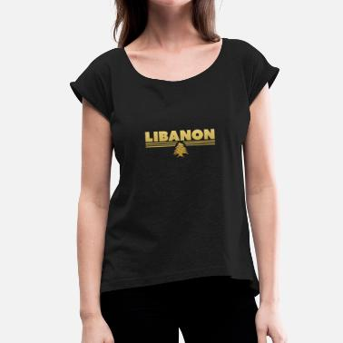 Beirut Lebanon Beirut Coat of Arms - Women's T-Shirt with rolled up sleeves