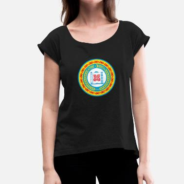 Chechen chechnya - Women's T-Shirt with rolled up sleeves