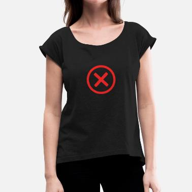 Crossed cross - Women's T-Shirt with rolled up sleeves
