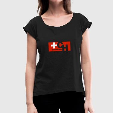 Switzerland Flag Switzerland Flag Flag Switzerland Swiss Flag - Women's T-Shirt with rolled up sleeves