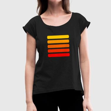 High Contrast Color gradient red-yellow - Women's T-Shirt with rolled up sleeves