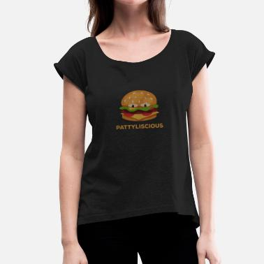 Patty Burger Patty gaveide - Dame T-shirt med rulleærmer