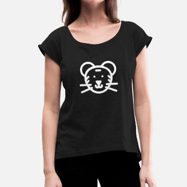 Cute Tiger Cute tiger - Women's T-Shirt with rolled up sleeves