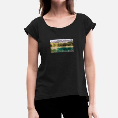 Magazine nature books magazines success - Women's T-Shirt with rolled up sleeves
