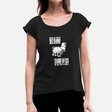 Skull Gothic Gothic Skull Black Skull - Women's T-Shirt with rolled up sleeves