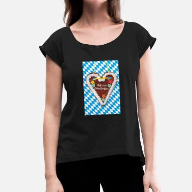 Gingerbread Heart gingerbread heart - Women's T-Shirt with rolled up sleeves
