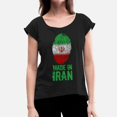 Persien Made in Iran / Made in Iran ايران Iran Persien - T-shirt med upprullade ärmar dam