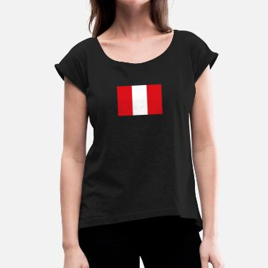 Lake Titicaca National Flag Of Peru - Women's T-Shirt with rolled up sleeves
