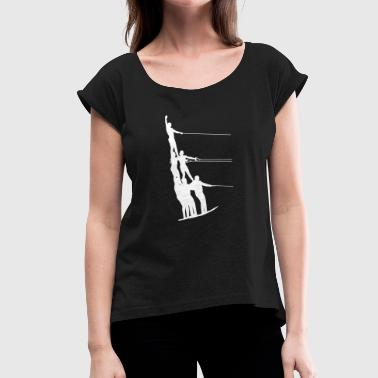 Water skiing water sports - Women's T-Shirt with rolled up sleeves