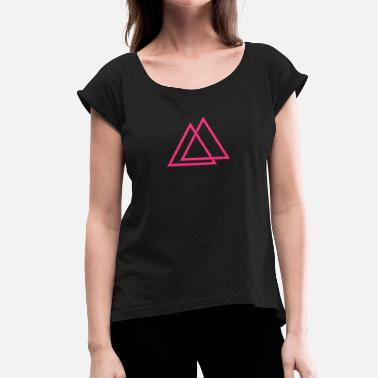 Triangle Illusion Triangle illusion Hipster Triangle 1c - T-shirt à manches retroussées Femme