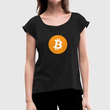 Btc Bitcoin BTC - Women's T-Shirt with rolled up sleeves