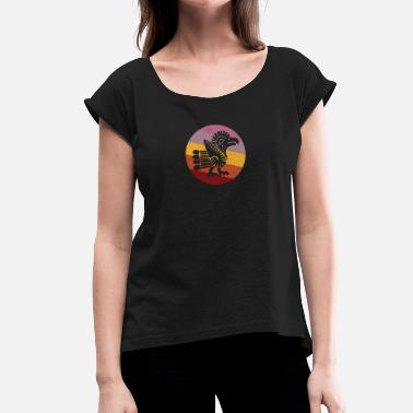 Navajo Navajo Style Turkey Retro - Women's T-Shirt with rolled up sleeves