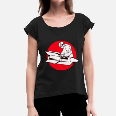 Long War Mechanic long-range rocket war science - Women's T-Shirt with rolled up sleeves