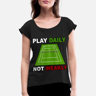 Tennis Court tennis court - Women's T-Shirt with rolled up sleeves
