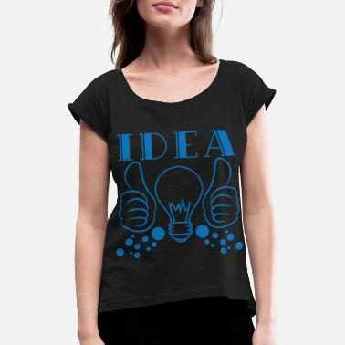 Emotion Idea tee design. Makes a nice gift to your - Women's Rolled Sleeve T-Shirt