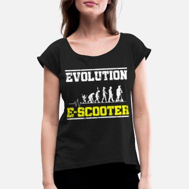 Wheel Evolution two-wheeled e-scooter - Women's Rolled Sleeve T-Shirt