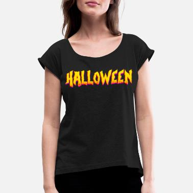 Creepy spooky Halloween Halloween Gift - Women's Rolled Sleeve T-Shirt