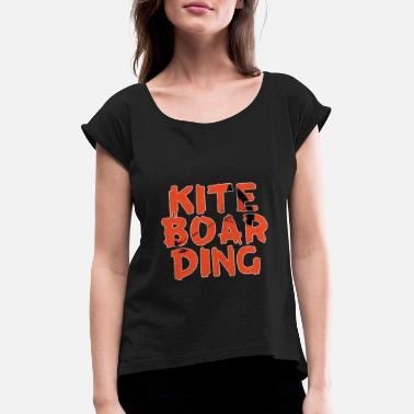 Kite Boarding Kite boarding silhuette in name - Women's Rolled Sleeve T-Shirt