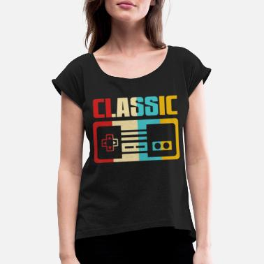 Retro Game Characters Retro Gaming - Women's Rolled Sleeve T-Shirt