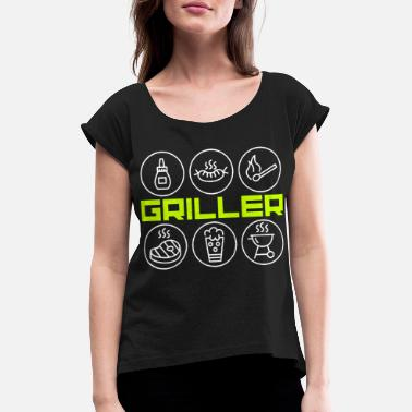 Bbq Supply BBQ BBQ - Women's Rolled Sleeve T-Shirt