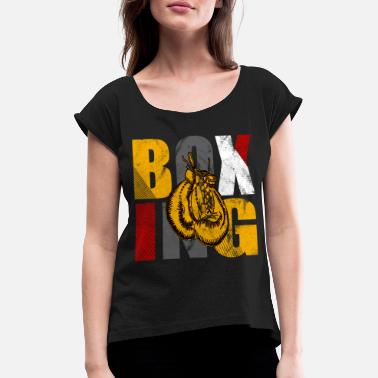 Gloves Boxing Boxing Gloves Boxing Boxing Boxing Martial Arts - Women's Rolled Sleeve T-Shirt
