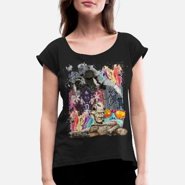 Pop Pop Art - Women's Rolled Sleeve T-Shirt