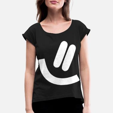 Vector Smile vector vector graphic - Women's Rolled Sleeve T-Shirt