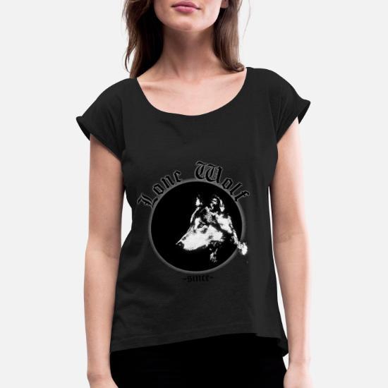 ulv T skjorte med rulleermer for kvinner | Spreadshirt