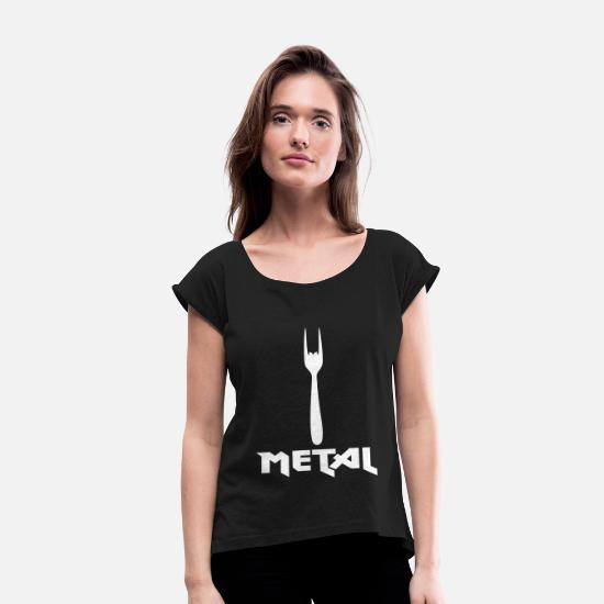 Rocker T-Shirts - Metal - Women's Rolled Sleeve T-Shirt black
