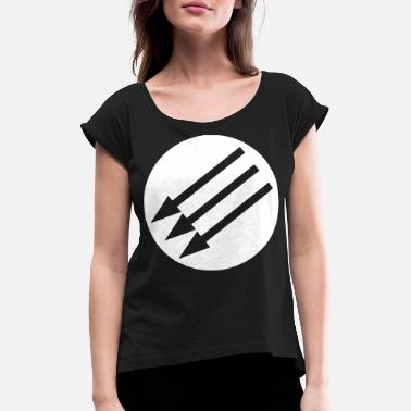 Arrows THREE ARROW | Three arrows | Political movement - Women's Rolled Sleeve T-Shirt