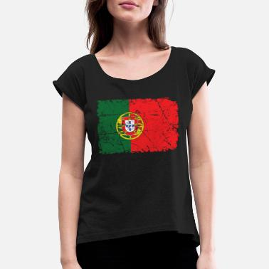 Europe Portugal - Women's Rolled Sleeve T-Shirt