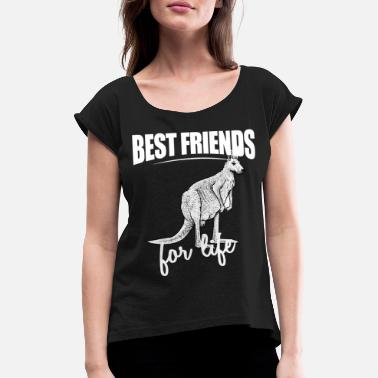 Redneck Best Friends For Life - Red Kangaroo For Everyone - Women's Rolled Sleeve T-Shirt