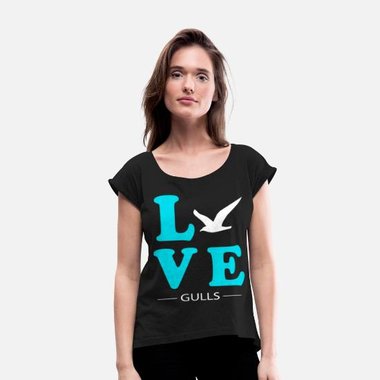 Ivory Gull T-Shirts - Gull - Women's Rolled Sleeve T-Shirt black