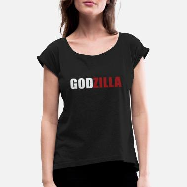 Godzilla Godzilla Basic Gift Gift Idea Monster Japan - Women's Rolled Sleeve T-Shirt