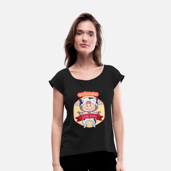 Baby T-Shirts - baby girl - Women's Rolled Sleeve T-Shirt black