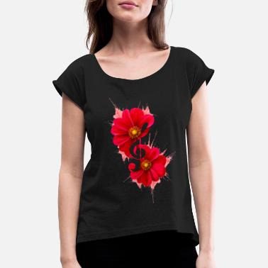 DL - Design // Music of flowers - Women's Rolled Sleeve T-Shirt
